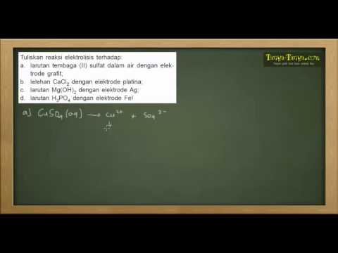 Belajar Kimia : Contoh Soal Sel Volta, Elektrolisis & Hk. Faraday
