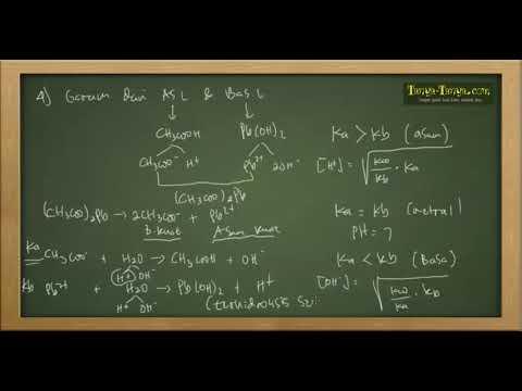 Belajar Kimia : Hidrolisis Part 2