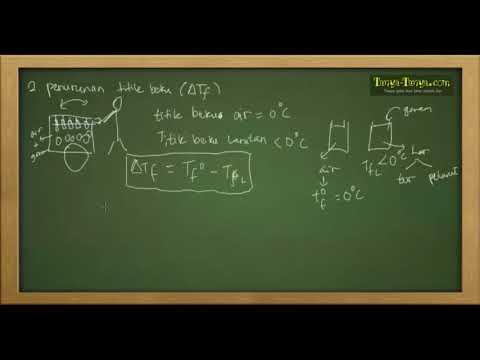 Belajar Kimia : Materi dan Contoh Soal Sifat Koligatif Part 3
