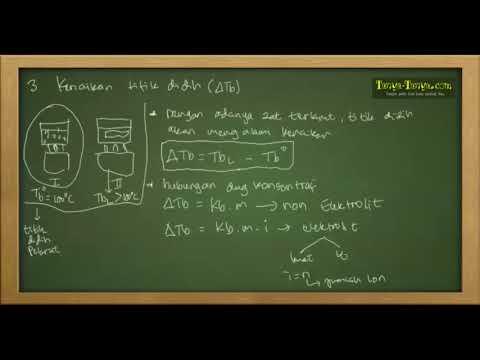Belajar Kimia : Materi dan Contoh Soal Sifat Koligatif Part 4