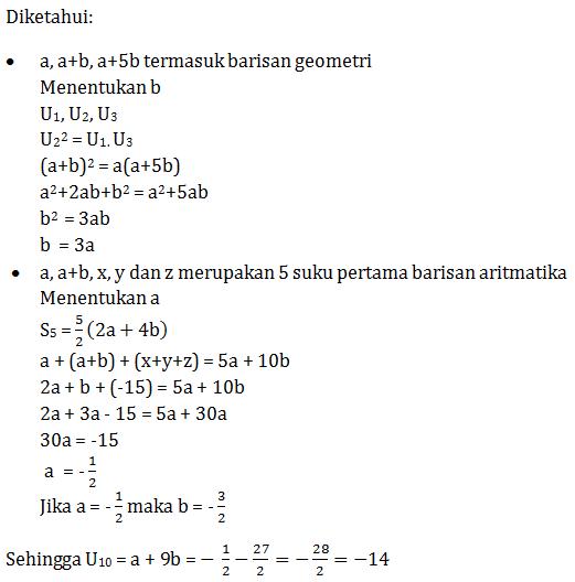 Contoh Soal Barisan Dan Deret Geometri Beserta Jawabannya ...